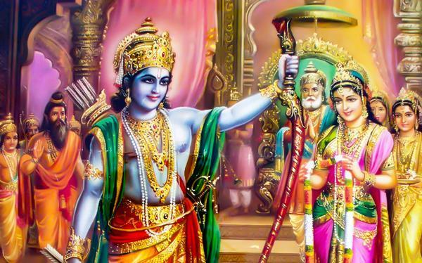 भगवान श्रीराम ने धनुष को उठाया और उस पर प्रत्यंचा चढ़ाकर उसे तोड़ दिया